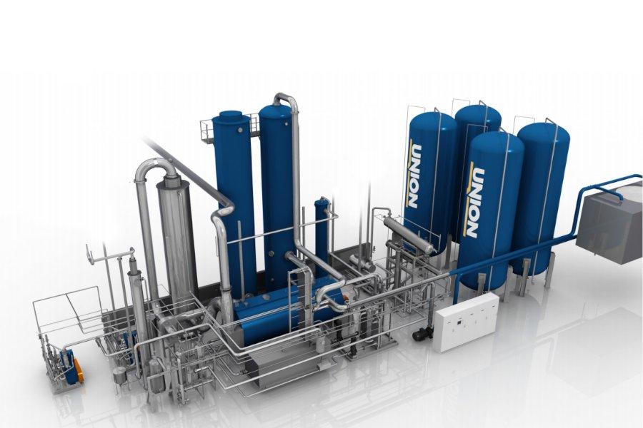 CO2-Extraktion aus Kesselanlagen - Extraction Based Unit - EBU - Union Engineering - Bild 1